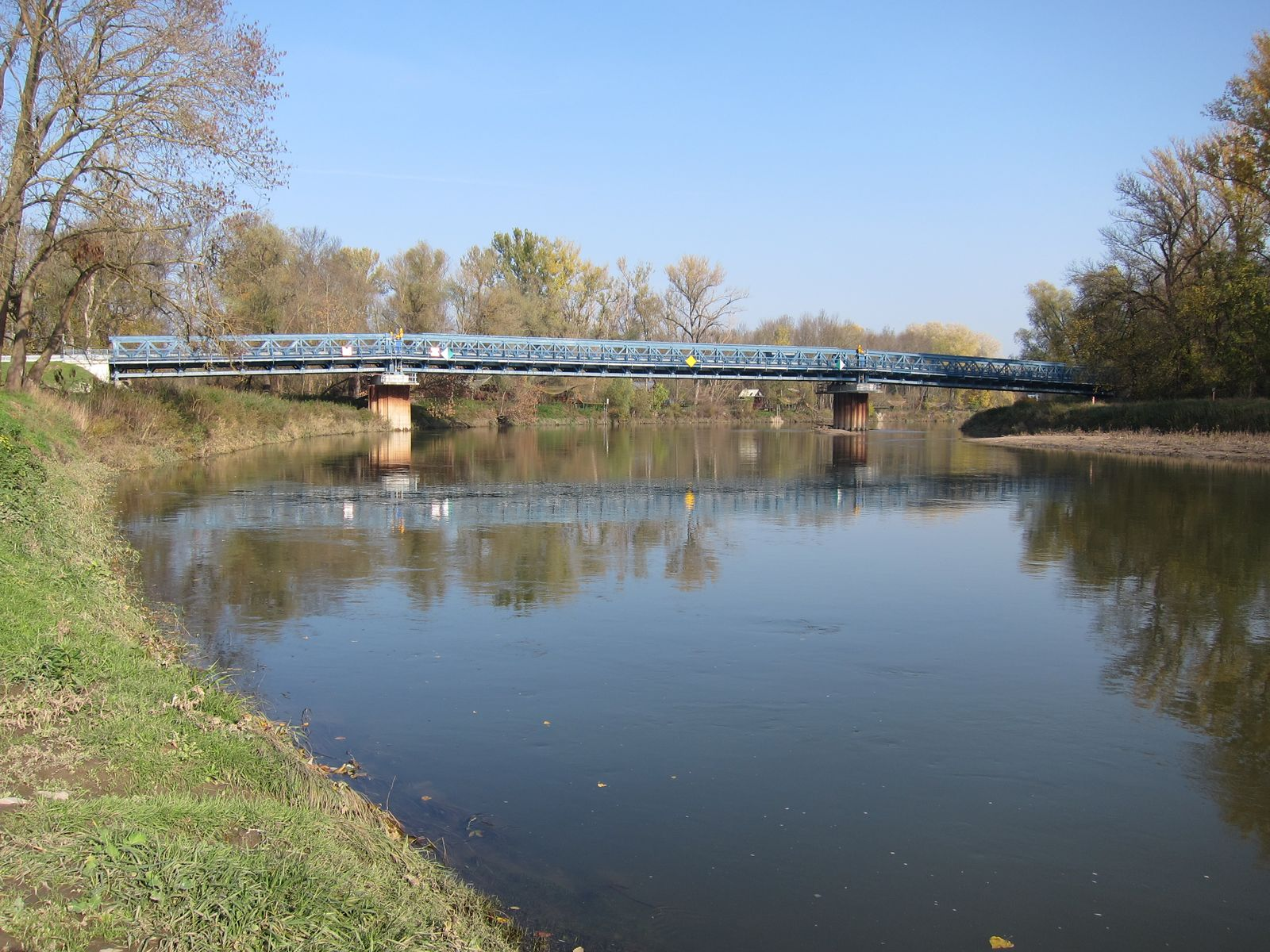 Die Marchbrücke in die Slowakei, Foto: R. Brandstetter