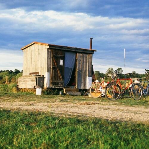 Der Bauwagen, die erste Beringungsstation 6 m² (Auring)